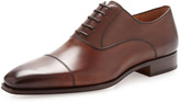 Magnanni Calfskin Lace-Up, Mid Brown