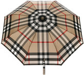 Burberry check folding umbrella - women - Polyester/Glass Fiber/Aluminium/Acrylonitrile Butadiene Styrene (ABS) - One Size