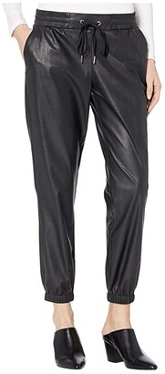 n:philanthropy Scarlett Vegan Leather Joggers (Black Cat) Women's Clothing
