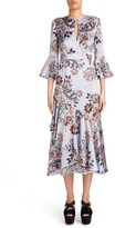 Erdem Women's Floral Print Silk Satin Dress