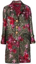 Dolce & Gabbana floral single breasted coat