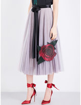 Christopher Kane Beauty and the Beast tulle and silk-satin skirt