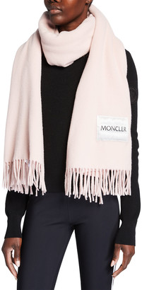 Moncler Wool Scarf with Quilted Logo