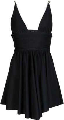 Amen Plunge-Neck Mini Dress