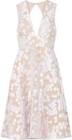 Lela Rose Open-back fil coupé dress