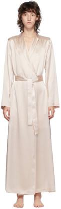 La Perla Pink Silk Long Robe