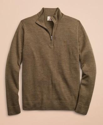 Brooks Brothers Merino Wool Half-Zip Sweater