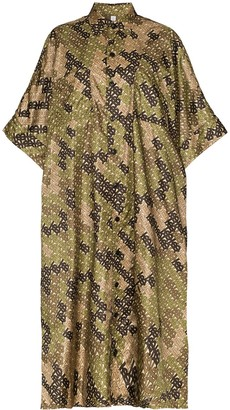 Burberry printed oversized scarf poncho
