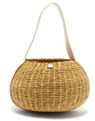 Muun Oriane Straw Basket Bag - Beige Multi