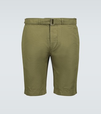 Officine Generale Julian cotton-linen shorts