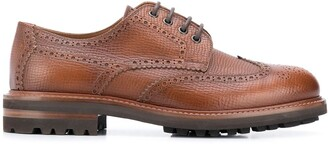 Brunello Cucinelli Textured Lace-Up Brogues