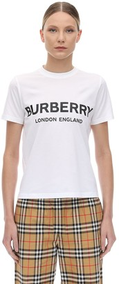 Burberry Slim Logo Print Cotton Jersey T-shirt