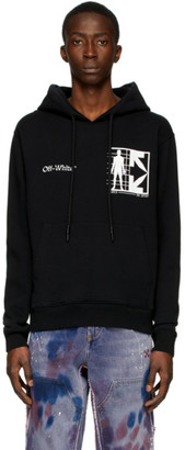 Off-White Black Half Arrows Man Hoodie