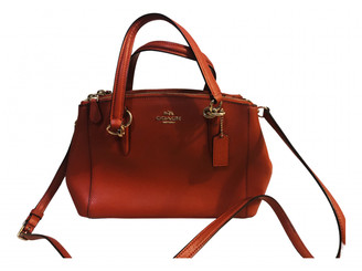 Coach Crossgrain Kitt Carry All Red Leather Handbags