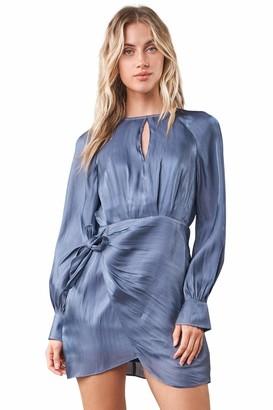 Sugar Lips Sugarlips Women's Semie Long Sleeve Mini Wrap Dress