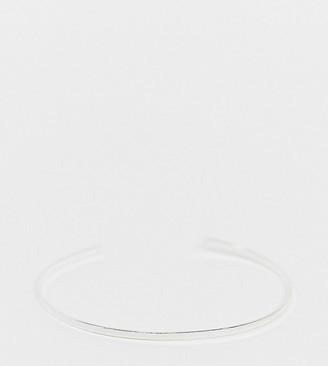 Kingsley Ryan minimal cuff bangle in sterling silver