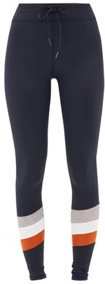 The Upside Hudson Striped-panel Leggings - Womens - Navy Multi