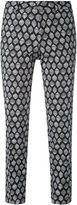 Pt01 New York patterned trousers - women - Cotton/Spandex/Elastane - 40