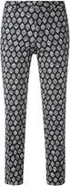 Pt01 New York patterned trousers - women - Cotton/Spandex/Elastane - 44