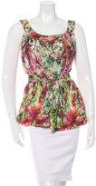 Piazza Sempione Sleeveless Floral Top