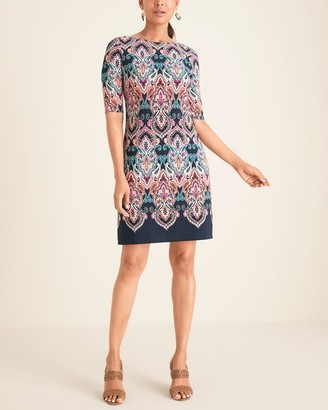 Eliza J Medallion-Print Shift Dress