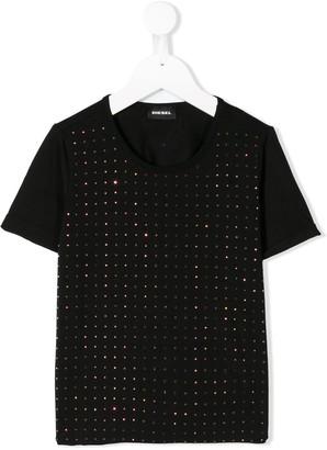 Diesel rhinestone-embellished crew-neck T-shirt
