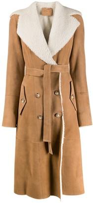 Desa 1972 Shearling-Lined Trench Coat
