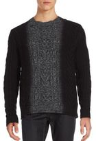 Vince Marled Dégradé Cable-Knit Sweater