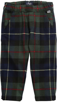 Il Gufo Check Viscose Blend Pants