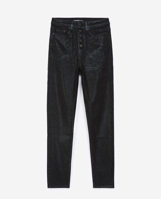 The Kooples Black jeans with visible buttons