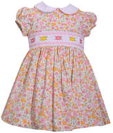 Bonnie Jean Short Sleeve Peterpan Collar Smocked Dress - Baby Girls