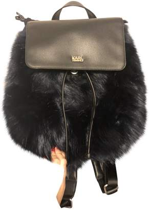 Karl Lagerfeld Paris Blue Synthetic Backpacks
