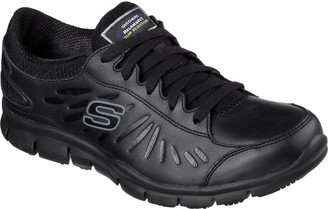 Skechers Relaxed Fit Lace-up Leather Sneakers - Eldred