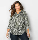 Avenue Burnout Floral Peasant Top