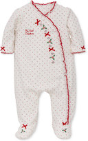 Little Me Holly Heart Footed Pajamas