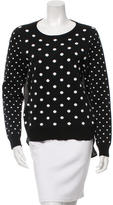 Veronica Beard Polka Dot Long Sleeve Sweater