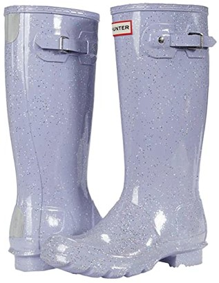 Hunter Original Giant Glitter Wellington Boots (Little Kid/Big Kid) (Pulpit Purple) Girls Shoes