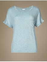 M&S Collection Frill Short Sleeve Pyjama Top