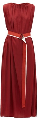 Carl Kapp - Emer Drawstring Midi Dress - Dark Red