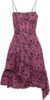 Derek Lam 10 Crosby Ruffled Floral-print Cotton-jacquard Dress