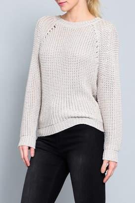 AAKAA Open Back Sweater