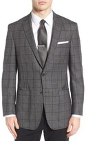 Hart Schaffner Marx Men's Classic Fit Windowpane Wool Sport Coat