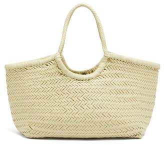 DRAGON DIFFUSION Nantucket Woven-leather Basket Bag - Cream