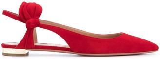 Aquazzura Bow-Detail Ballerina Shoes