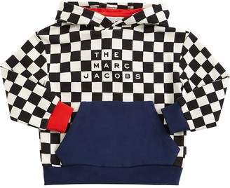 Little Marc Jacobs Check Cotton Sweatshirt Hoodie