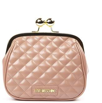 Love Moschino Pink Faux Leather Quilted Shoulder Bag