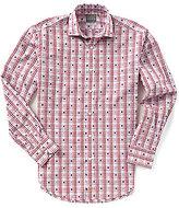 Thomas Dean Coupe Check Long-Sleeve Woven Shirt