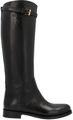 Prada Buckled Knee-High Boots