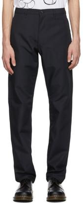 Comme des Garçons Homme Deux Navy Wool Gabardine Trousers
