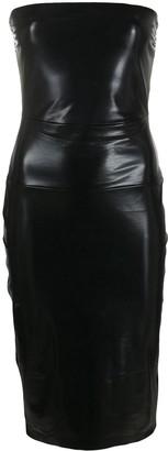 Norma Kamali Coated Strapless Dress